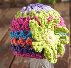 Would be adorable for my goddaughter   fun spring/summer baby hat