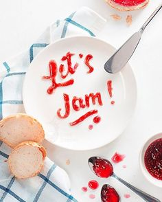 View top-quality stock photos of Food Typography Lets Jam On A White Background. Find premium, high-resolution stock photography at Getty Images. Breakfast Quotes, Breakfast Time, Food Typography, Typography Poster, Jelly Cupboard, Good Advertisements, Advertising, Jam Tarts, Jam On