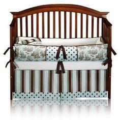 Blue/Brown Crib Bedding