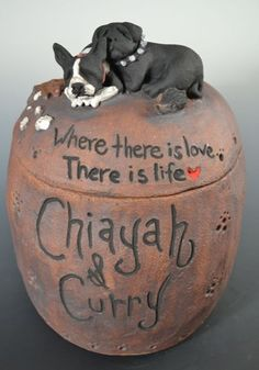Custom dog or pet urns urns for two pets by MonsterHollowStudios, $118.00