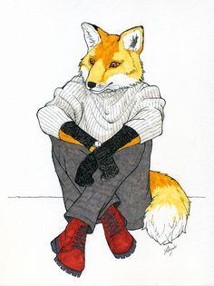 Fox man by Akiyuki Akabae