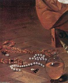 Caravaggio (Michelangelo Merisi) - madeleine détail