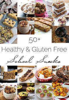 50+ Healthy, Gluten Free Back to School Snacks | Foodfaithfitness.com | @FoodFaithFit