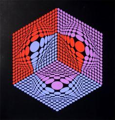 Serigrafía de Victor Vasarely