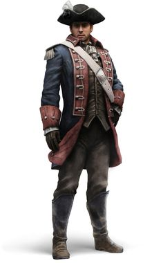 m Riverboat Captain Hat midlvl urban City coastal farmland Assassin's Creed III Art & Pictures Continental Soldier Character Concept, Character Art, Character Design, Concept Art, Stop Motion, Steampunk Armor, Westerns, Assassins Creed 3, Pirate Art