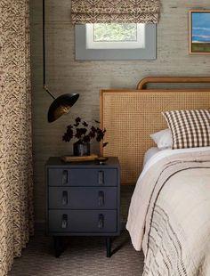 Cozy Bedroom, Bedroom Decor, Bedroom Inspo, Bedroom Inspiration, Modern Bedroom, Interior Exterior, Interior Design, Seward Park, Rattan Headboard