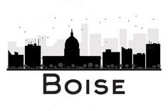 #Boise #City #skyline #silhouette by Igor Sorokin on @creativemarket