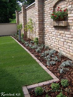 Fence Wall Design, Stone Wall Design, Modern Fence Design, Urban Garden Design, Driveway Design, Porch Garden, Side Garden, Backyard Fences, Front Yard Landscaping