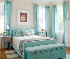 turquoise  deco chambre fille ado