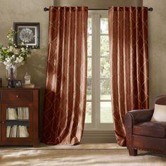 Bombay™ Garrison 63-Inch Rod Pocket/Back Tab Window Curtain Panel in Cinnamon