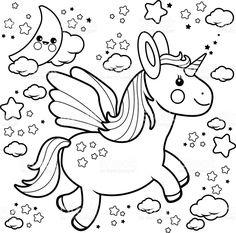 desenhos para colorir unicornio