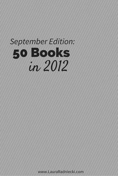 50 Books in 2012 - September Recap
