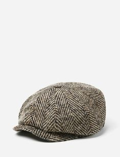 d195043299e Stetson Hatteras Herringbone Newsboy Cap - Black Brown