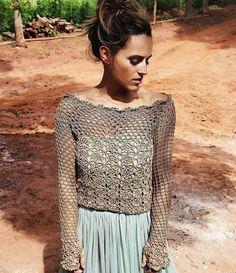 Crochet shirt by designer Vanessa Montoro