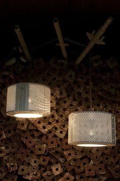 Washmachine drum recycle lamp