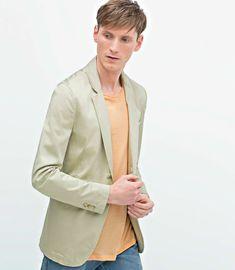 ZARA Pastel Beige Single Breasted Soft Blazer Man Authentic BNWT RRP £59.99 6917/441  #Zaramen #blazermen #secondhand #used #ukmenclothing