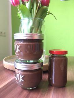 Nuss-Nougat-Creme Bon Appetit, Nutella, Nuss Nougat Creme, Dips, Mason Jars, Food And Drink, Low Carb, Vegan, Kitchens