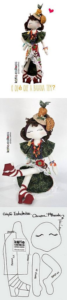 Кукла Carmen Miranda.