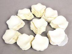 1000 Pétales de Rose en Soie pour Mariage - Couleur Ivoire
