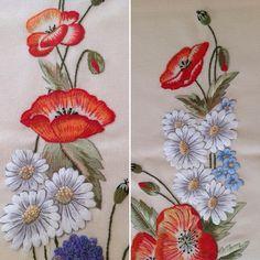 Günaydın...❤️❤️❤️Dekoratif Nakış Dergisi 5. Sayı ...#elişi #handmade #dekoratifnakış #embroidery #nakış #gelincik#çiçekler#flowers#