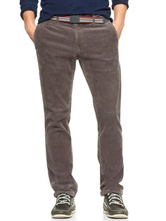 I want to wear mens-style cords.    Lived-in slim cords ($59.95) by Gap, gap.com   - Esquire.com