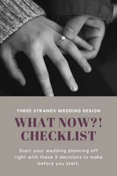 Checklist: Start Your Engagement Off Right Plan Your Wedding, Wedding Planning, Getting Engaged, Strands, Wedding Designs, Posts, Templates, Engagement, How To Plan