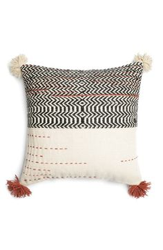 Free shipping and returns on LOLOI Woven Wool & Cotton Accent Pillow at Nordstrom.com. Add an artisanal accent to your décor with this tassel-trimmed woven pillow designed with the look of an art bazaar find.
