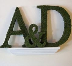 Moss Covered Letters - Moss Covered Wedding Monogram Letters - Set of TWO ( 18 inches ) Moss Covered Letters, Moss Letters, Monogram Letters, Monogram Wedding, Wedding Monograms, Letter Set, Ribbon Colors, Our Wedding, Wedding Ideas