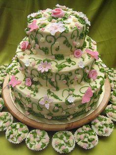 @KatieSheaDesign ♡❤ #Cake ❥ garden cake