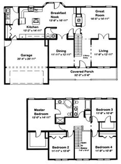 Virginia manufactured or modular home floor plans for Traditional house plans two story