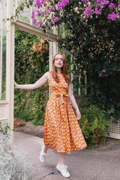 We want to spend our days frolicking in the sunshine wearing our Brigitte Midi Lemon Dress 🍋☀️ We have the dress, now all we need is the sunshine... 👀 Vintage Inspired Dresses, Vintage Style Outfits, Vintage Dresses, Vintage Fashion, Good Earth India, Irish Design, Made Clothing, The Chic, Pink Dress