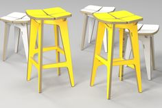 tetra stool / plywood furniture / cnc router