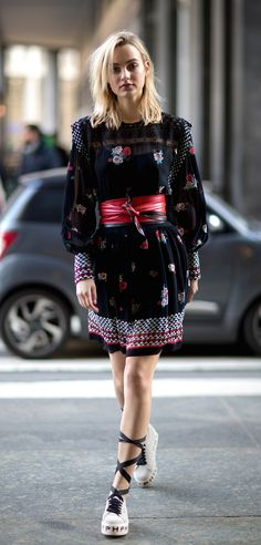 Lovely dress. Milan Men's Fashion Week, Fall 2018.