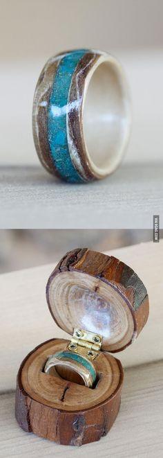Wooden engagement ring - 9GAG