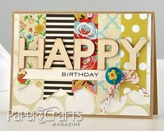 Happy Hipster Birthday Card by Betsy Veldman (from from Paper Crafts May/June 2013 issue).