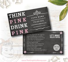 Plexus Business Card New Slim Pink Drink Update Swag By TheGraphicsNanny On Etsy