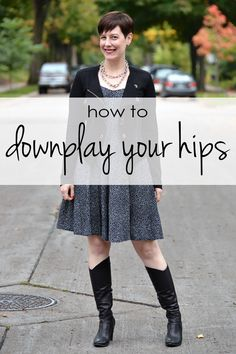A great tutorial with images showing dressing techniques for downplaying or minimizing full hips