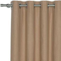 """Eastern Accents Breeze Pure Grommet Single Curtain Panel Size: 96"""" W x 120"""" L, Color: Linen"""