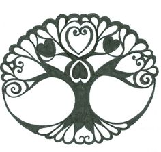 If I would ever get a tattoo, it would be one like this. To remind me to root myself into the earth first, before I reach for the sky and connect them both within the heart of who I am. The Now. - Tribal-Celtic Tree of Life