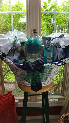 Wedding Spa Gift Basket Made By Norma's Unique Gift Baskets$175-200.