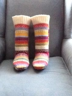 Felted sweater slippers