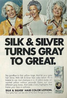 1975 Beauty Ad, Clairol Hair Color, Silk & Silver | Flickr - Photo Sharing!