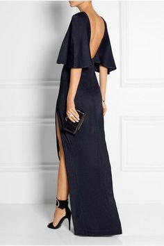 Cushnie et Ochs - Open-back stretch-satin jersey maxi dress Elegant Dresses, Pretty Dresses, Beautiful Dresses, Formal Dresses, Long Dress Formal Elegant, Looks Chic, Fashion Mode, Street Fashion, Mode Style