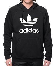 1721edd5ffae1a adidas Originals Trefoil Black Hoodie