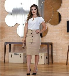(notitle) - outfits in 2020 Casual Work Outfits, Business Casual Outfits, Work Attire, Tight Dresses, Nice Dresses, Work Fashion, Fashion Looks, Pencil Skirt Work, Cute Skirts
