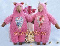 Шитье игрушек - овечки Холли и Долли