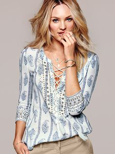 Your festival wardrobe wouldn't be complete without a boho-chic print. / Embellished Tunic