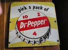 Dr Pepper sign Pepsi, Coke, Coca Cola, Soda Brands, Soda Bottles, Old Signs, Dr Pepper, Vintage Signs, Scriptures