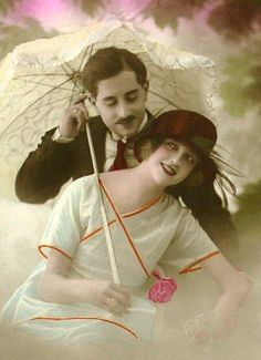Great site for FREE vintage images - very handy when writing/illustrating a family history. Vintage Romance, Vintage Love, Vintage Beauty, Vintage Couples, Romantic Couples, Vintage Ladies, Photo Postcards, Vintage Postcards, Vintage Pictures