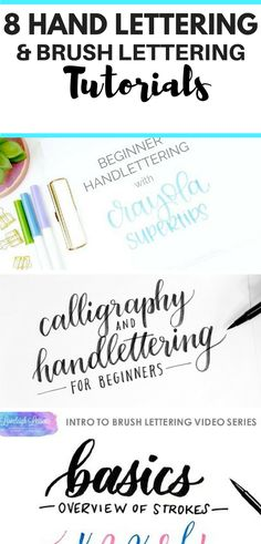 Check out these free and super-helpful handlettering tutorials so that you can beautiful your bullet journal!